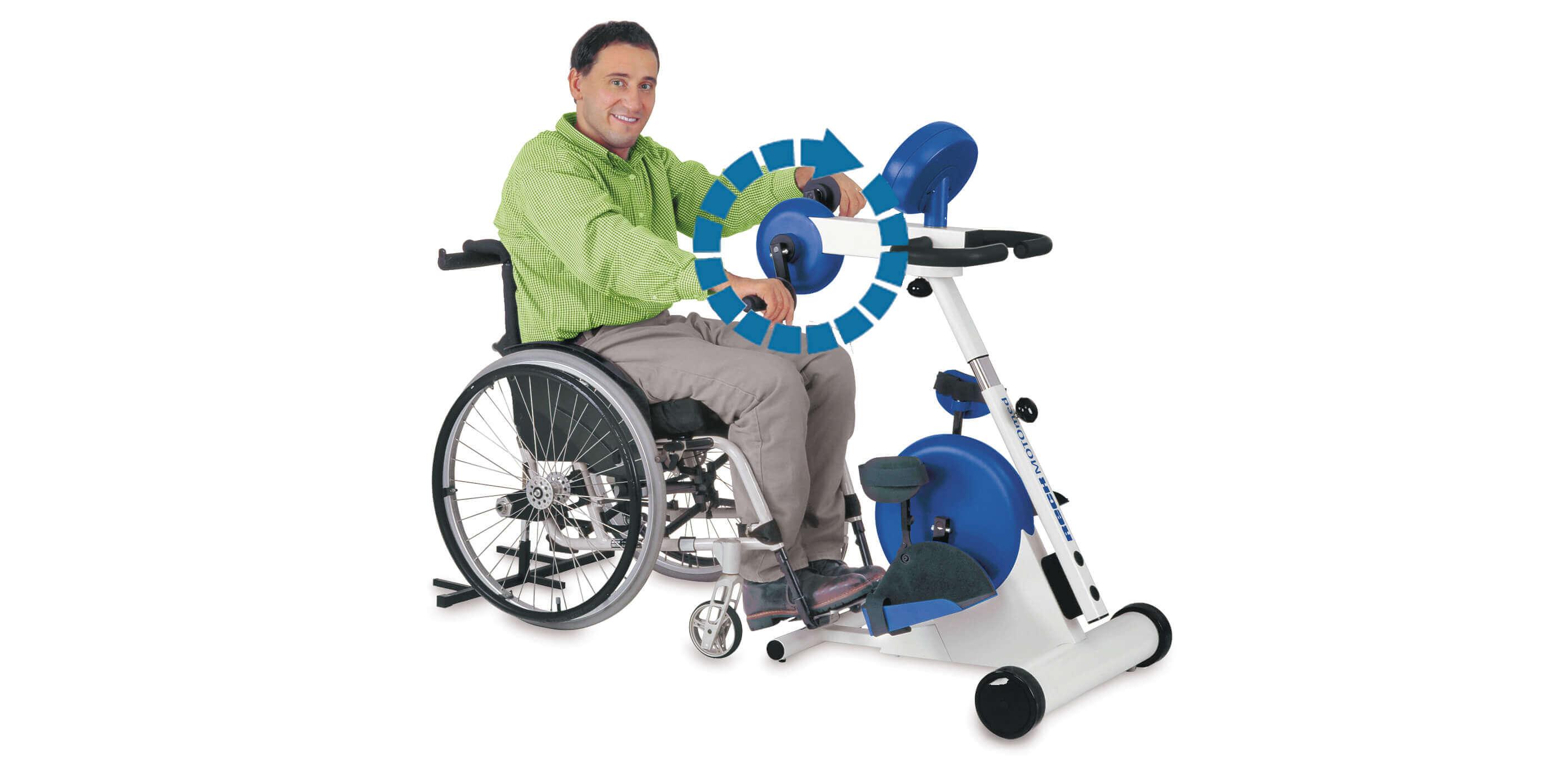 MOTOmed viva2 для ніг та рук чоловік відновлює моторику рук