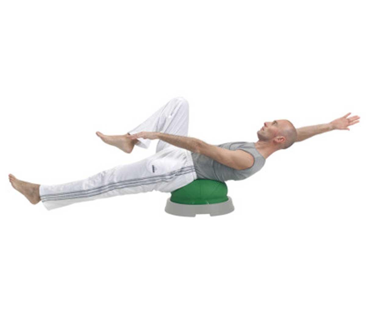 Полусфера балансировочная на платформе с пациентом