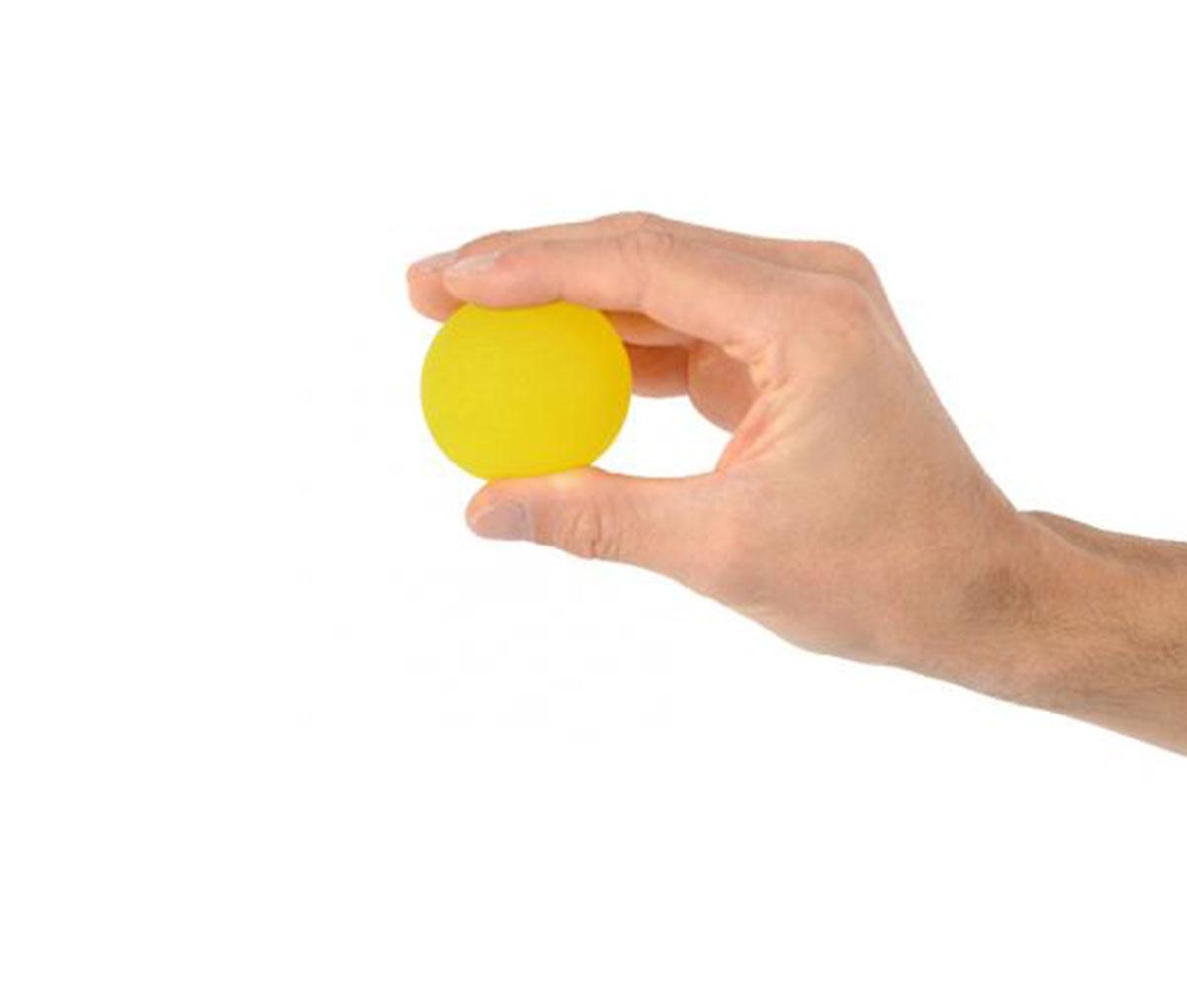 Веселый мячик желтый