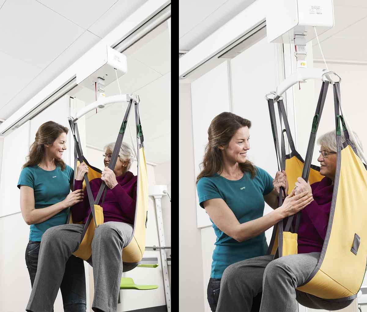 Стельовий підйомник GH3 з пацієнтом
