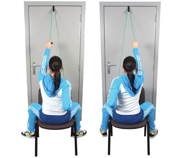 Вправа підняття та опускання рук сидячи