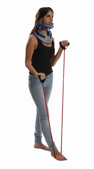 Виконання фізичних вправ в пристрої для тракції шиї
