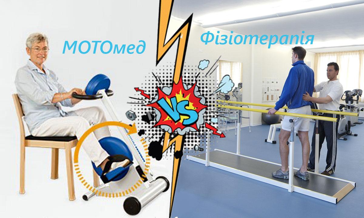 MOTOmed в порівнянні з фізіотерапією