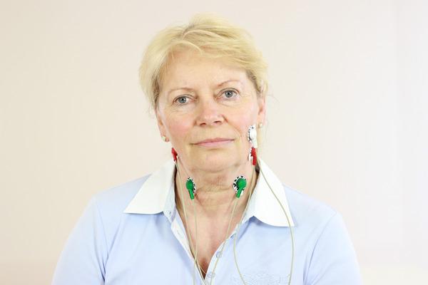 Позиціонування електродів на шиї